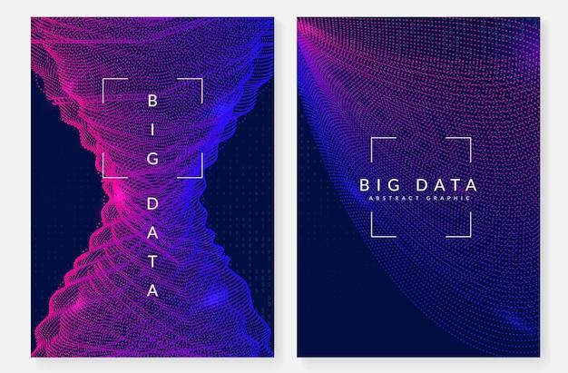 Koncepcja dużych zbiorów danych. technologia cyfrowa streszczenie tło. sztuczna inteligencja i głębokie uczenie. wizualizacja techniczna dla szablonu interfejsu. tło koncepcji neuronowych dużych danych.