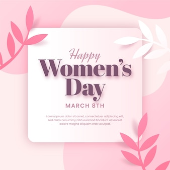 Koncepcja dzień kobiet w płaskiej konstrukcji