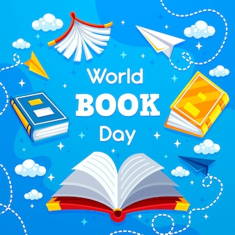 Koncepcja dzień książki płaski świat