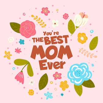 Koncepcja dzień kwiatowy matki