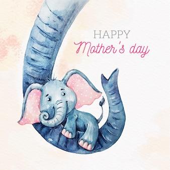 Koncepcja dzień matki akwarela