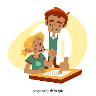 Koncepcja dzień nauczyciela z ręcznie rysowane tła