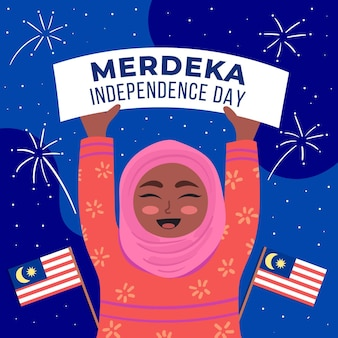 Koncepcja dzień niepodległości malezji