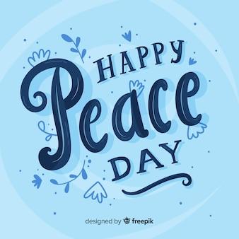 Koncepcja dzień pokoju z napisem