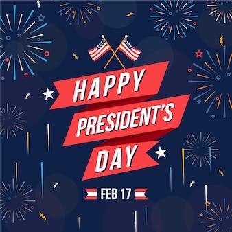 Koncepcja dzień prezydentów fajerwerków