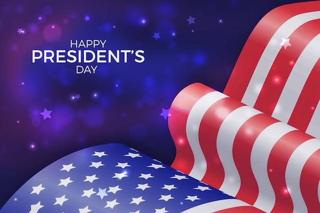 Koncepcja dzień prezydentów z realistyczne flagi
