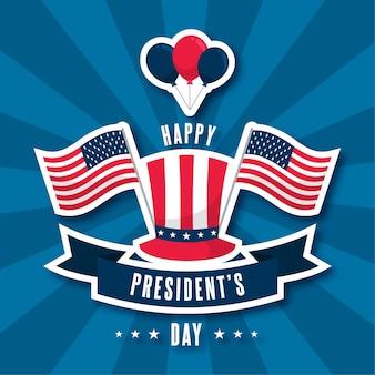 Koncepcja dzień szczęśliwy prezydentów