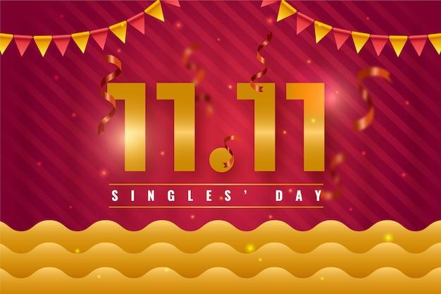 Koncepcja dzień złotych singli