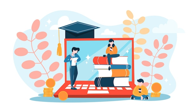 Koncepcja edukacji. idea uczenia się i wiedzy.
