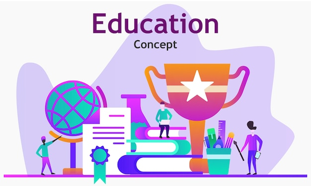 Koncepcja edukacji ilustracja