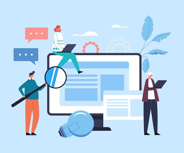 Koncepcja edukacji internetowej online.