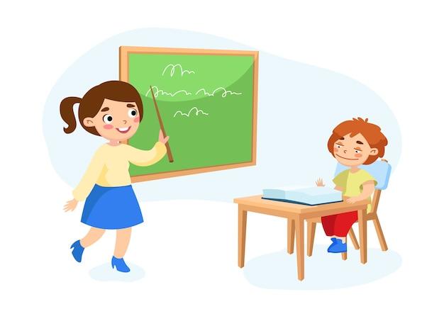 Koncepcja edukacji na białym tle