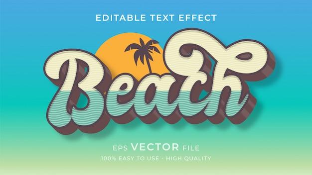 Koncepcja efekt edytowalny tekst lato plaża