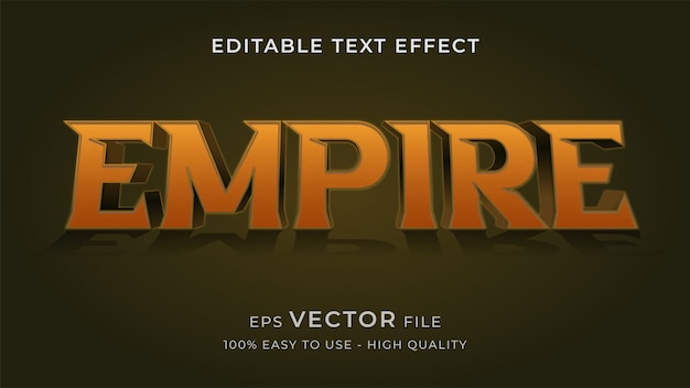 Koncepcja efektu edytowalnego tekstu logo filmu