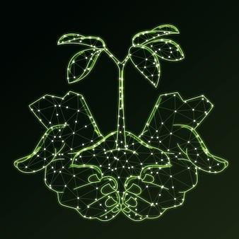 Koncepcja ekologii technologicznej w kolorze zielonym