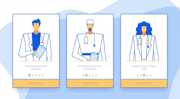 Koncepcja ekranów aplikacji lekarzy online