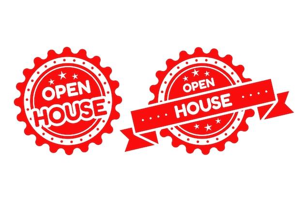 Koncepcja etykiety otwarty dom