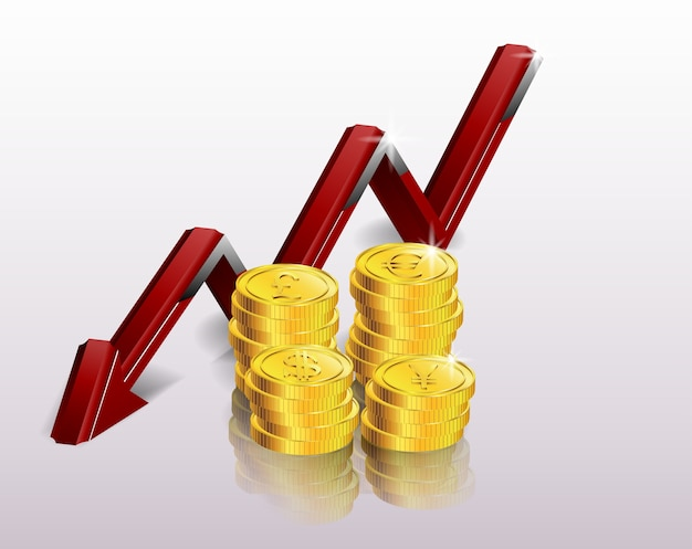 Koncepcja finansowa, malejący wykres
