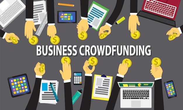 Koncepcja finansowania tłumu biznesu