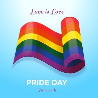 Koncepcja flaga dzień dumy