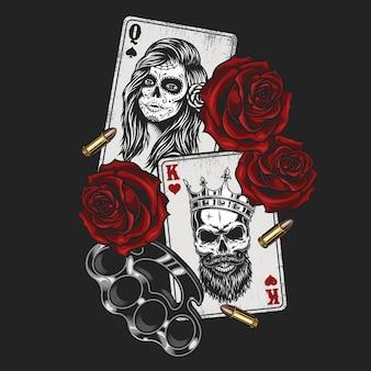 Koncepcja gangsta z kart do gry