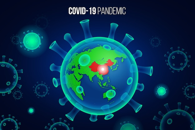 Koncepcja globu koronawirusa