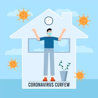 Koncepcja godziny policyjnej koronawirusa