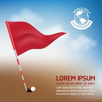 Koncepcja golf golf ball wektor koncepcji świata