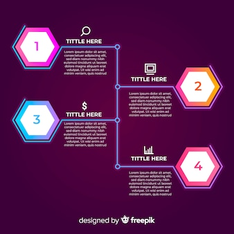 Koncepcja gradientu infographic infographic