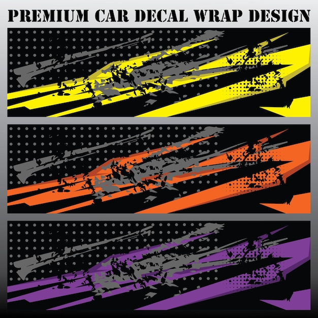Koncepcja graficzna samochodu graficzne abstrakcyjne wzory pasków grunge do pakowania