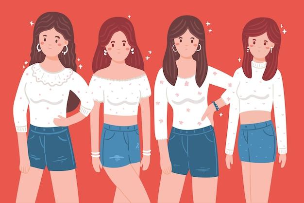 Koncepcja grupy dziewczyny k-pop