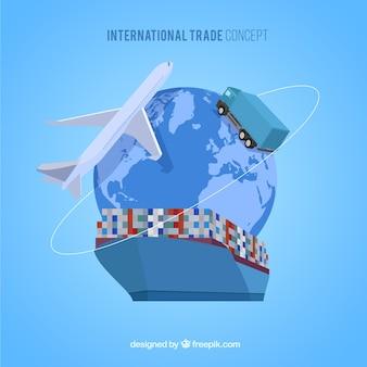 Koncepcja handlu międzynarodowego z płaskiej konstrukcji