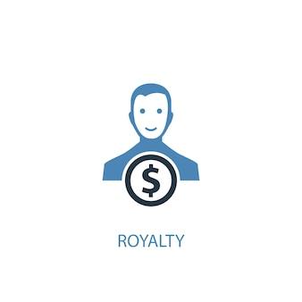 Koncepcja honorarium 2 kolorowa ikona. prosta ilustracja niebieski element. honorarium autorskie koncepcja symbol projektu. może być używany do internetowego i mobilnego interfejsu użytkownika/ux