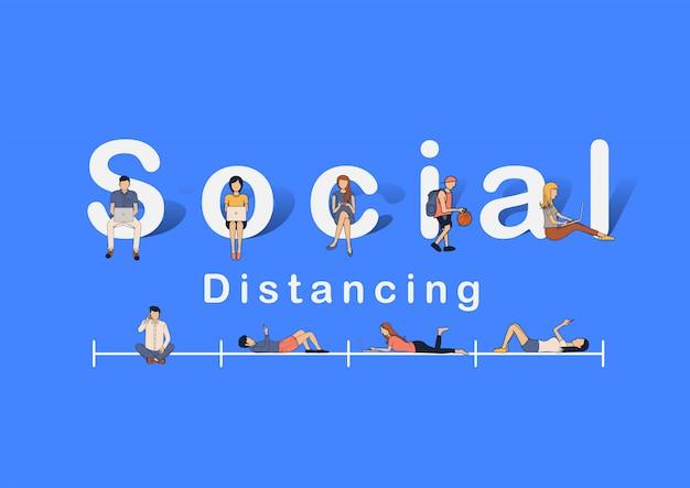 Koncepcja idei dystansowania społecznego, zapobieganie chorobie wieńcowej covid-19