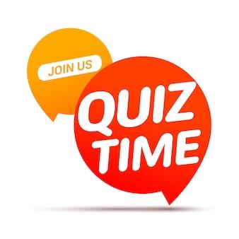 Koncepcja ikona czasu quizu. wektor znak zapytać konkurencji gry.
