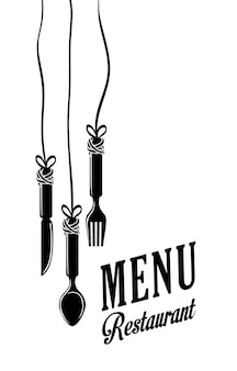 Koncepcja ikona restauracji z ikona designu
