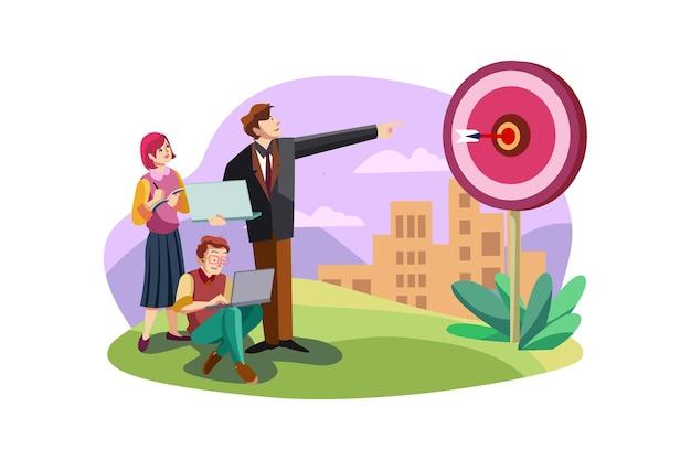 Koncepcja ilustracja cel biznesowy