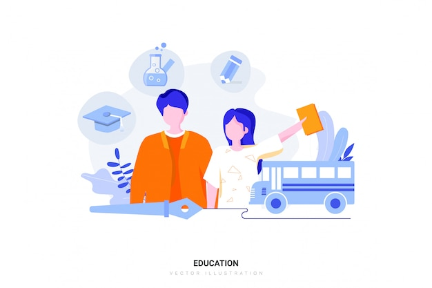 Koncepcja ilustracja edukacji
