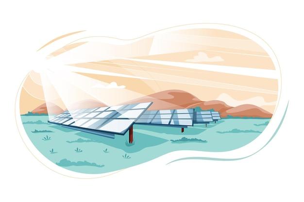 Koncepcja ilustracja energii odnawialnej