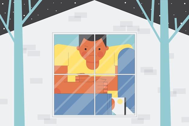 Koncepcja ilustracja gorączka kabinowa
