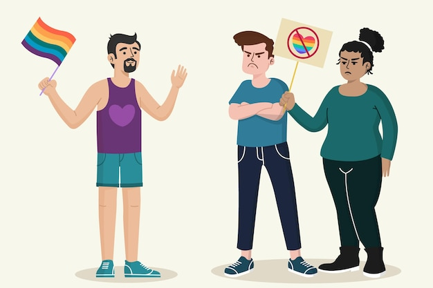 Koncepcja ilustracja homofobii