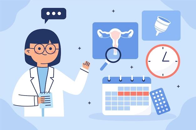 Koncepcja ilustracja koncepcja ginekologii