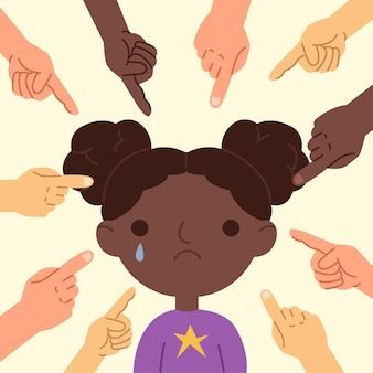 Koncepcja ilustracja koncepcja rasizmu