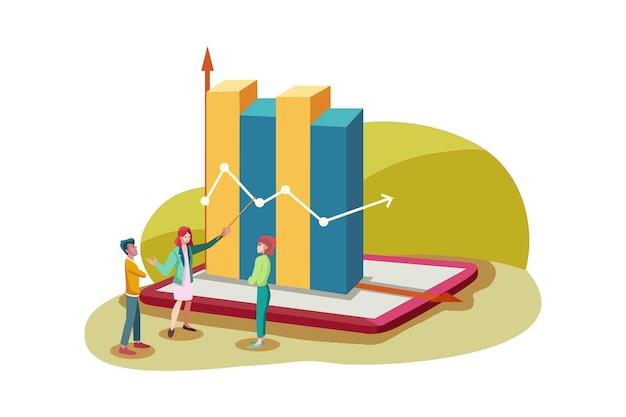 Koncepcja ilustracja planowania biznesowego
