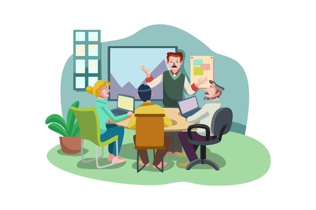 Koncepcja ilustracja spotkanie biznesowe