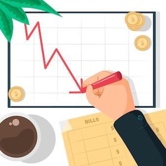Koncepcja ilustracji bankructwa