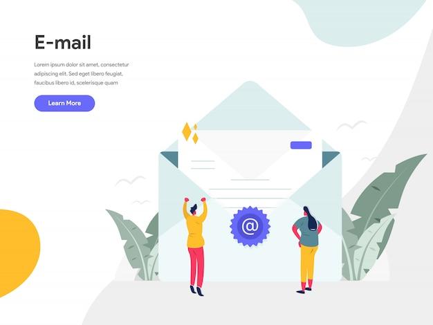 Koncepcja ilustracji e-mail