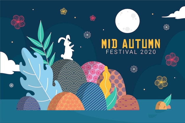 Koncepcja ilustracji festiwalu połowy jesieni
