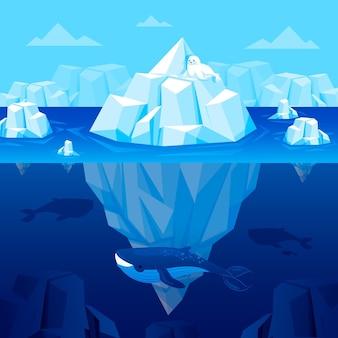 Koncepcja ilustracji góry lodowej