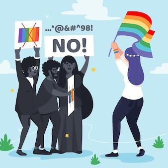 Koncepcja ilustracji homofobii